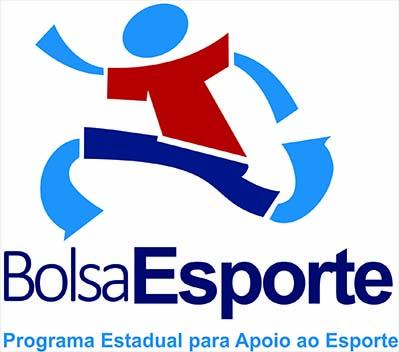 Marca institucional do programa estadual Bolsa Esporte