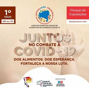 Card com anúncio da campanha Comitê Popular Solidário