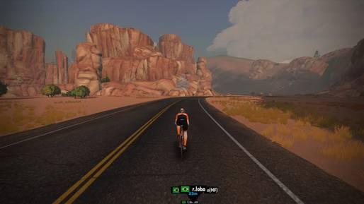 imagem de ciclista em jogo virtual