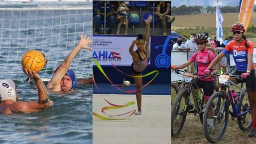 Eventos esportivos de polo aquático, ciclismo e ginástica movimentam municípios baianos neste final de semana