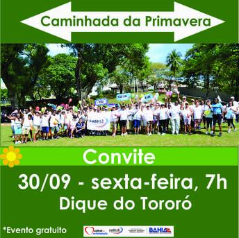 Imagem do convite para a caminhada que acontece dia 30 de setembro no Dique do Toror�