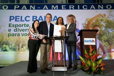 Governador Rui Costa participa do lançamento do Programa PELC Bahia - Esporte, Diversão e Lazer para Você, na oportunidade haverá exibição de vídeo e anúncio da implantação de cem núcleos do programa destinados a 78 municípios